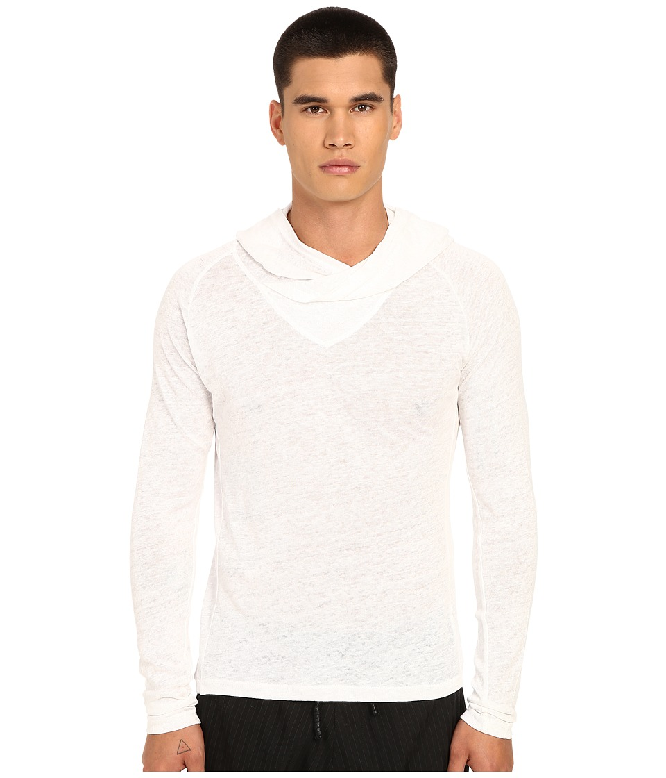 PRIVATE STOCK The Pol Long Sleeve T Shirt White Mens T Shirt