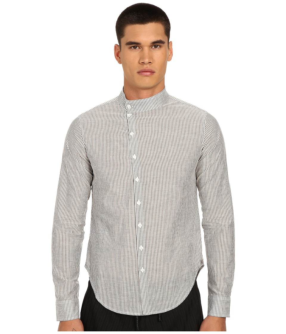 PRIVATE STOCK The Generation Shirt Grey Pinstripe Mens Long Sleeve Button Up