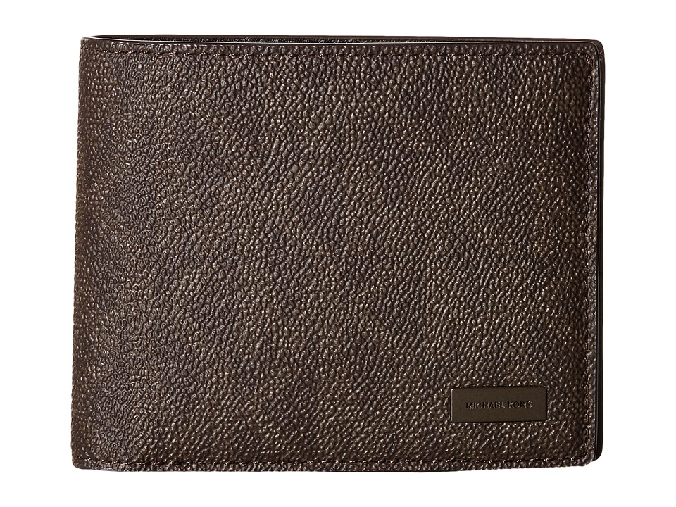 Michael Kors - Jet Set Billfold W Passcase (Brown) Bill-fold Wallet