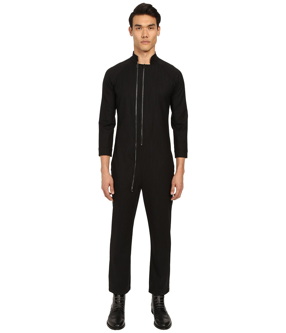 PRIVATE STOCK The Wellington Jumpsuit Black Pinstripe Mens Jumpsuit Rompers One Piece