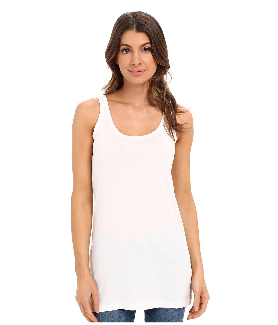 Lilla P Layering Long Scoop Tank Top White Womens Sleeveless