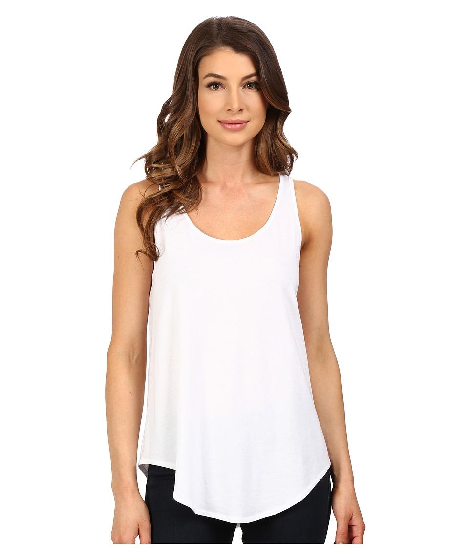 Lilla P Pima Modal Shirttail Scoop White Womens Clothing