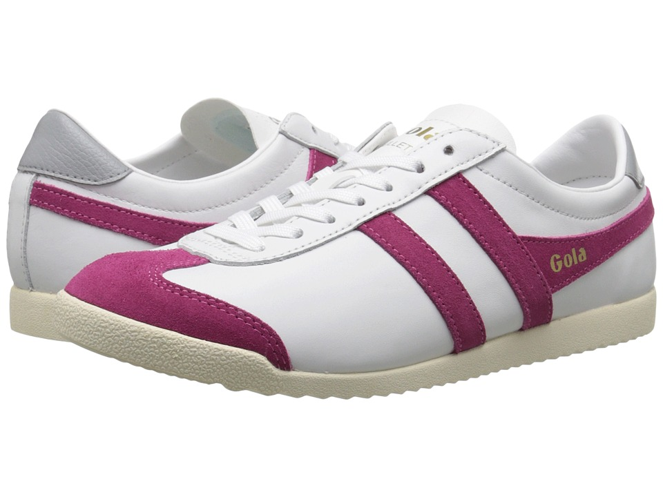 Gola Bullet Leather (White/Hot Fuchsia) Women