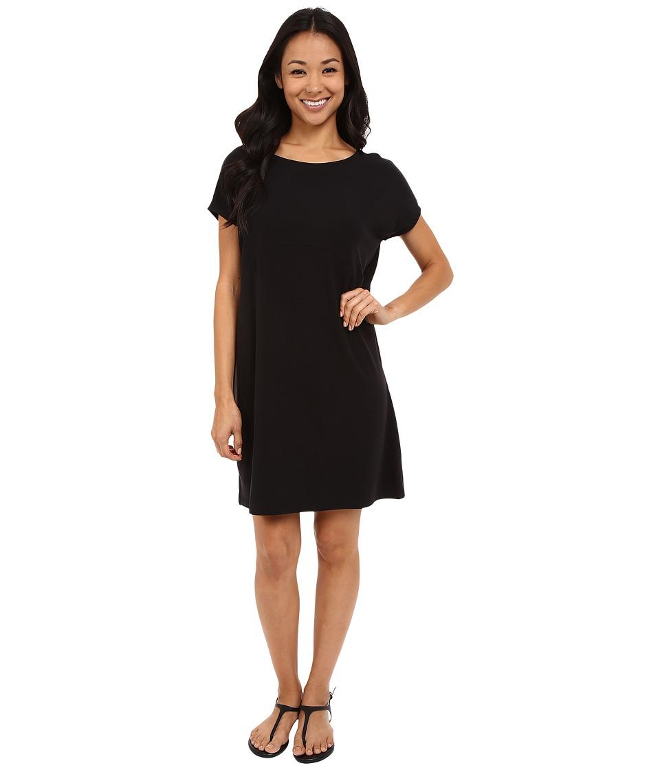Lilla P Stretch Jersey Easy Tieback Dress Black Womens Dress