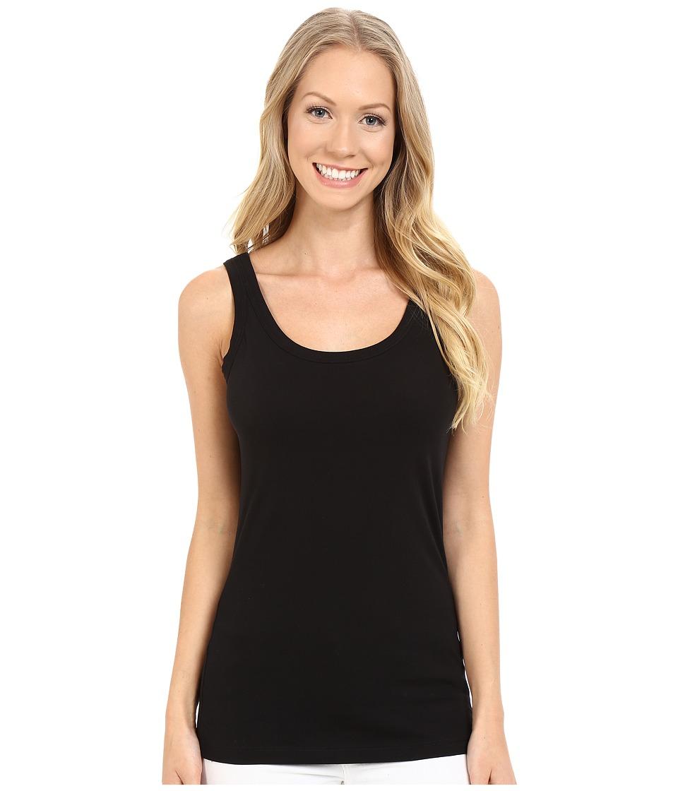 Lilla P - Layering Scoop Tank Top (Black) Womens Sleeveless