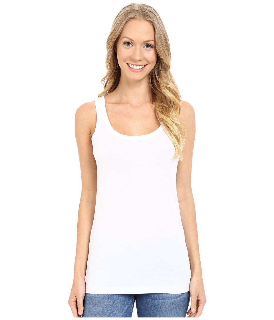 Lilla P Layering Scoop Tank Top White Womens Sleeveless