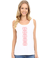 Lilla P - Embroidered Slub High-Low Tank Top