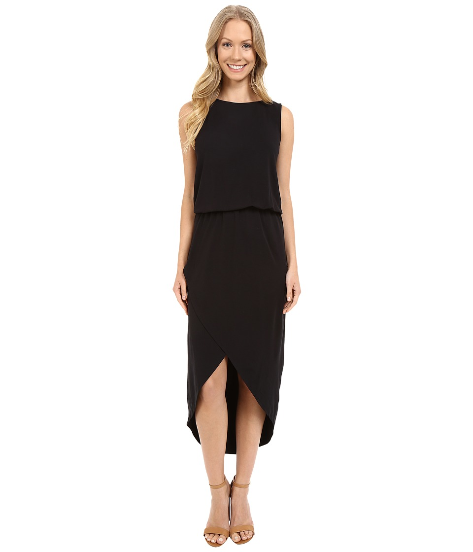 Lilla P Stretch Jersey Tulip Hem Dress (Black) Women