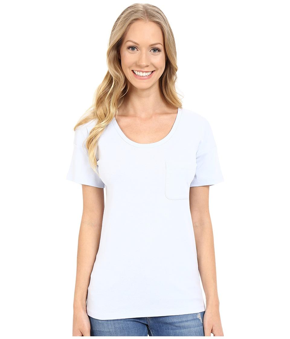Lilla P Fine Rib Boyfriend Tee Seabreeze Womens T Shirt