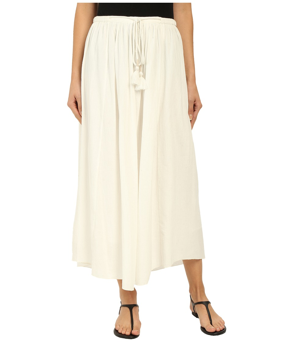 Lilla P Crinkle Cotton Maxi Skirt Sand Womens Skirt