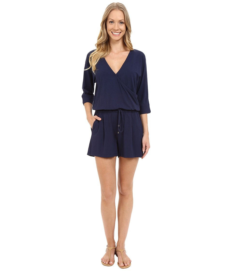 Lilla P Stretch Jersey Easy Romper Peacoat Womens Jumpsuit Rompers One Piece