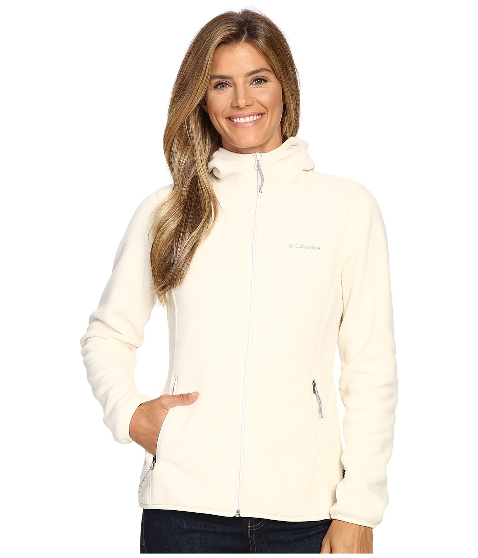 Columbia Fuller Ridge Hooded Fleece Jacket (Chalk) Women