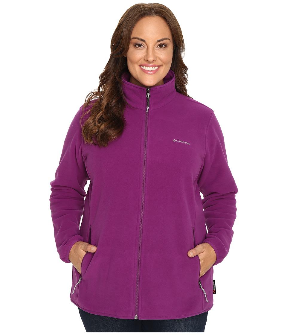 Columbia - Plus Size Fuller Ridge Fleece Jacket (Plum) Women