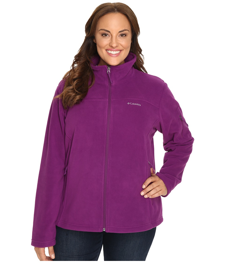 Columbia Plus Size Fast Trek II Full Zip Fleece Jacket (Plum) Women