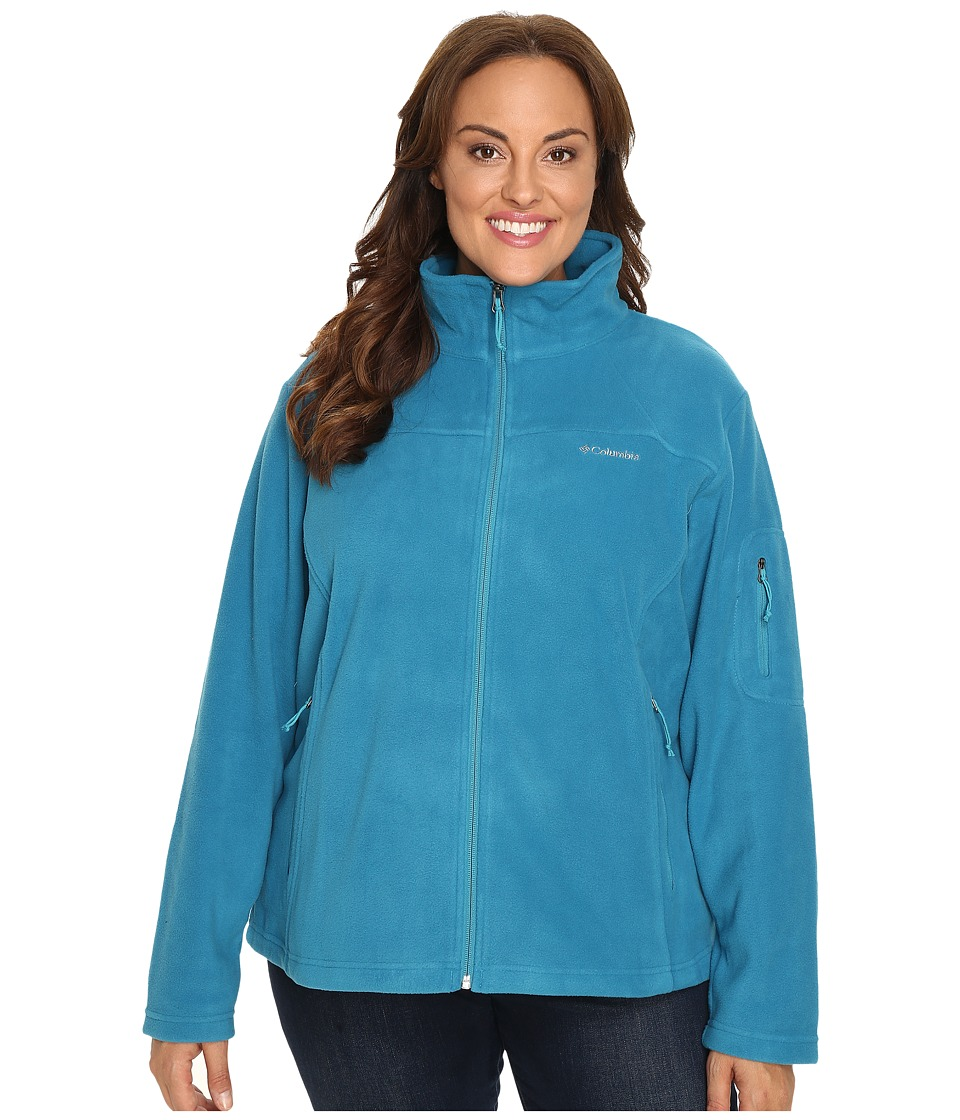 Columbia Plus Size Fast Trek II Full Zip Fleece Jacket (Deep Marine) Women