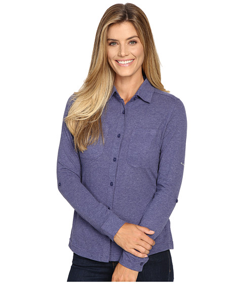 Columbia Saturday Trail Knit Long Sleeve Shirt - Nightshade Heather