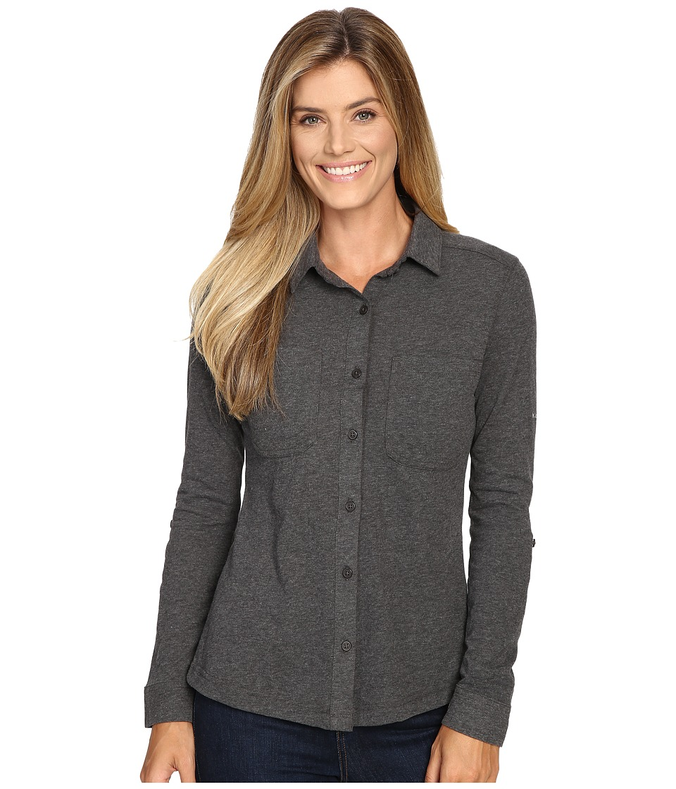 Columbia Saturday Trail Knit Long Sleeve Shirt (Shark Heather) Women