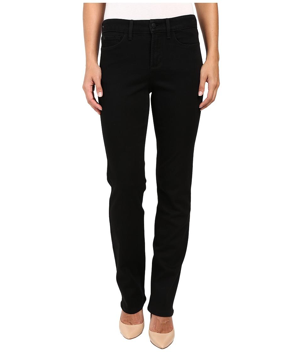 NYDJ - Marilyn Straight Jeans in Black (Black) Womens Jeans