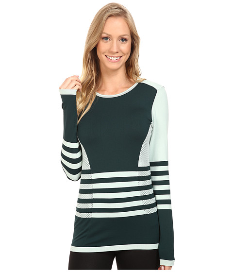 The North Face Long Sleeve Secondskin Top - Subtle Green/Scarab Green