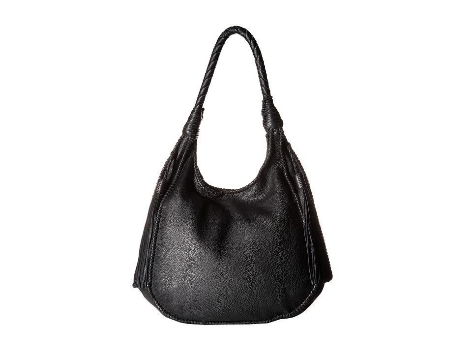Alice Olivia Andrew Pebbled Leather Hobo Black Hobo Handbags