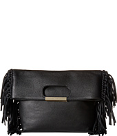 Alice + Olivia - Edie Pebbled Leather Fold-Over