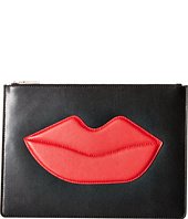 Alice + Olivia - Large Zip Pouch with Lips