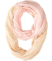 Betsey Johnson - Color Block Foil Crinkle Loop Scarf