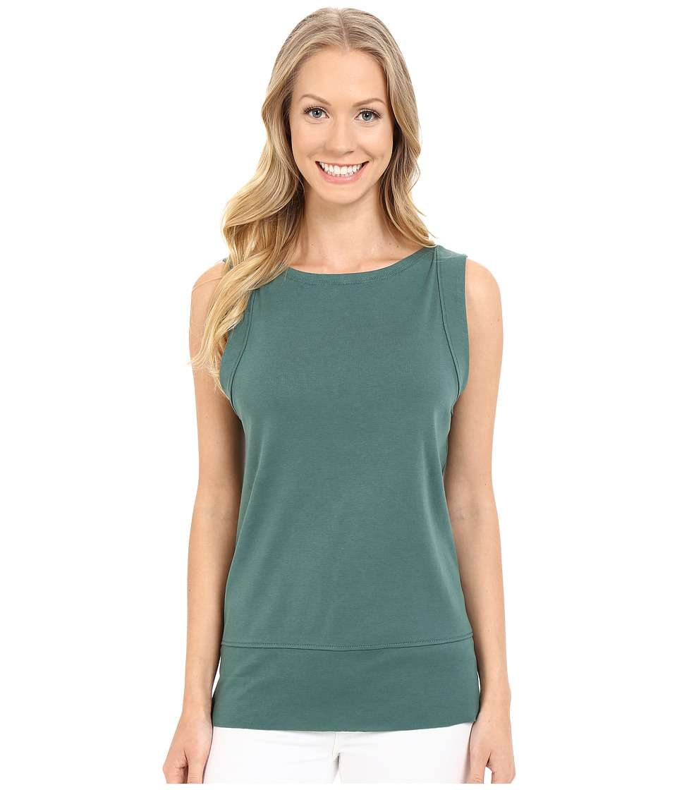 Lilla P Fine Rib Seamed Shell Riverstone Womens Sleeveless