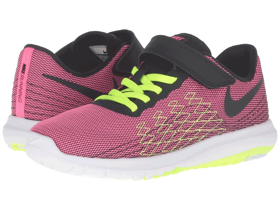 Nike Kids Flex Fury 2 (Little Kid) (Hyper Pink/Volt/White/Black) Girls Shoes