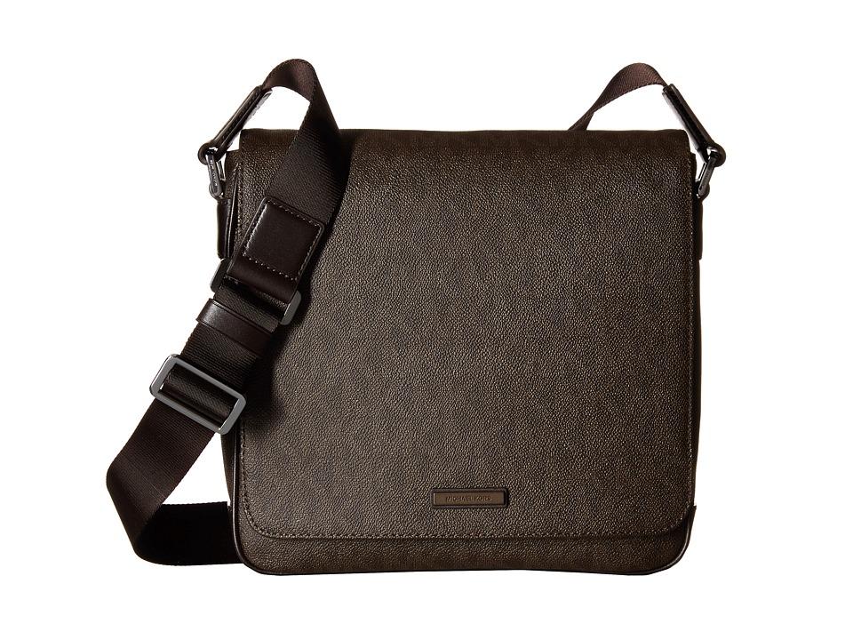 Michael Kors - Jet Set Medium Flap Messenger (Brown) Messenger Bags