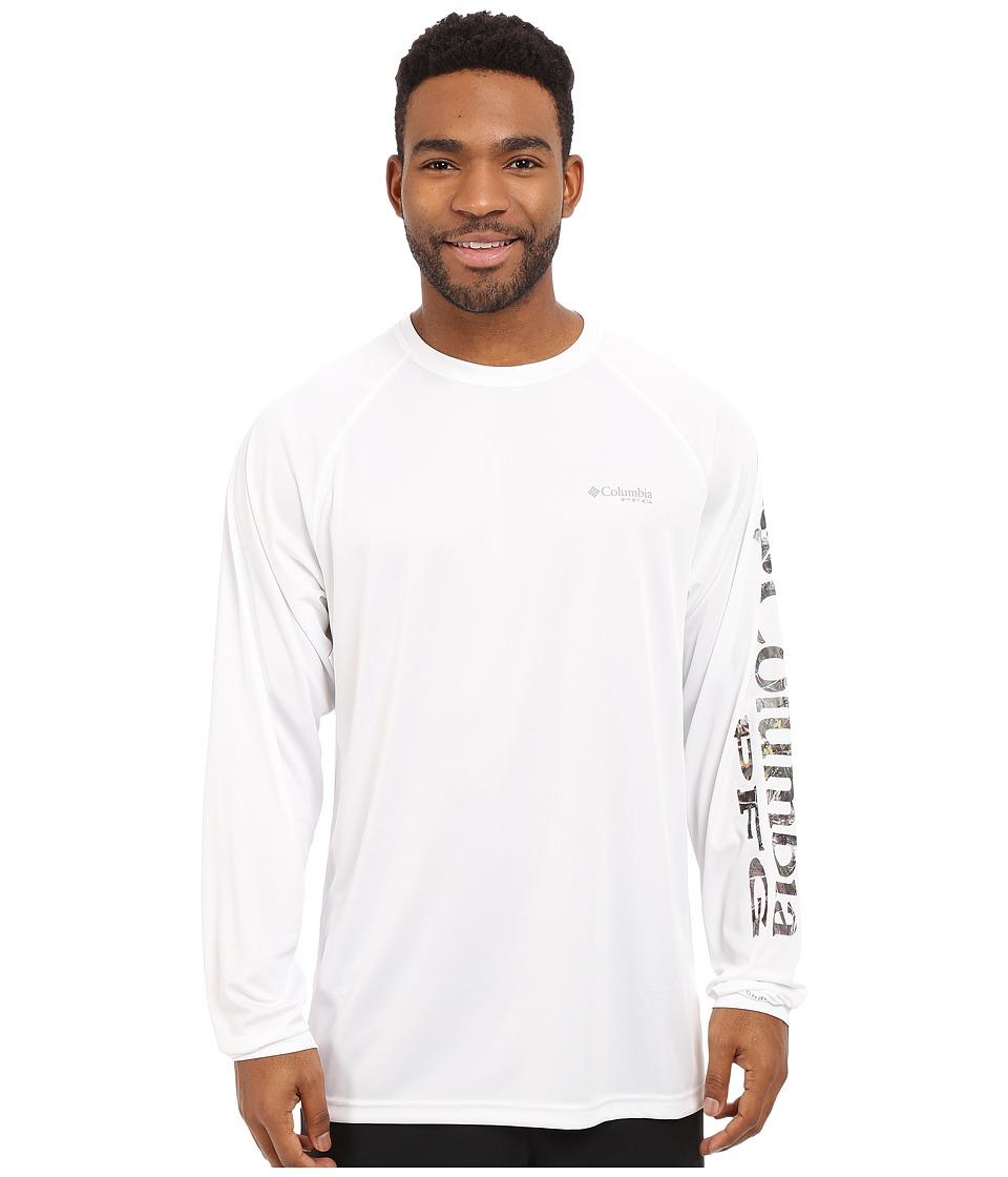 Columbia - Terminal Tackle L/S Shirt (White/Camo Logo) Men