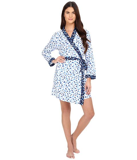 Oscar de la Renta Printed Luxe Pima Cotton Jersey Wrap