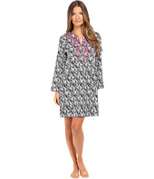 Oscar de la Renta - Printed Cotton Sateen Sleepshirt