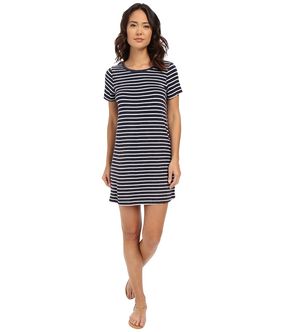Culture Phit Abbey Short Sleeve Dress Navy/White Womens Dress