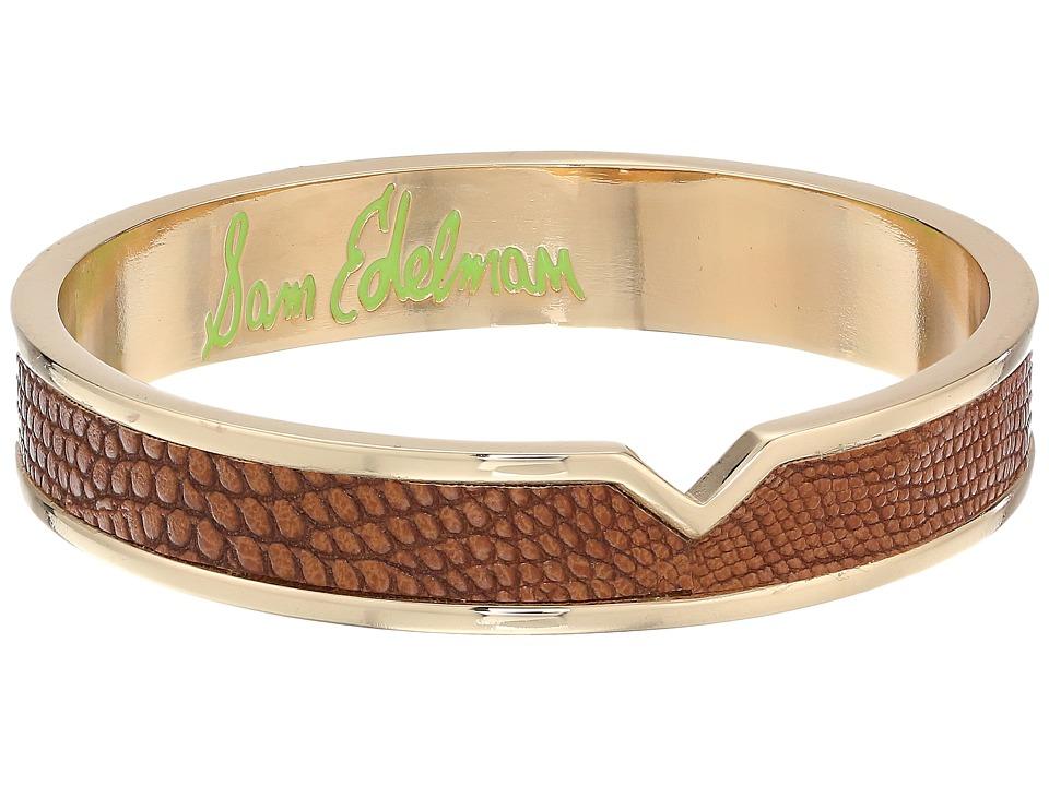 Sam Edelman Leather V Bangle Brown Bracelet