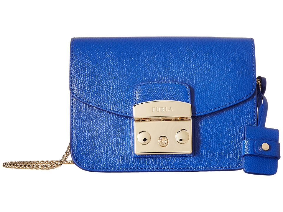 Furla - Metropolis Mini Crossbody (Blu Laguna) Cross Body Handbags