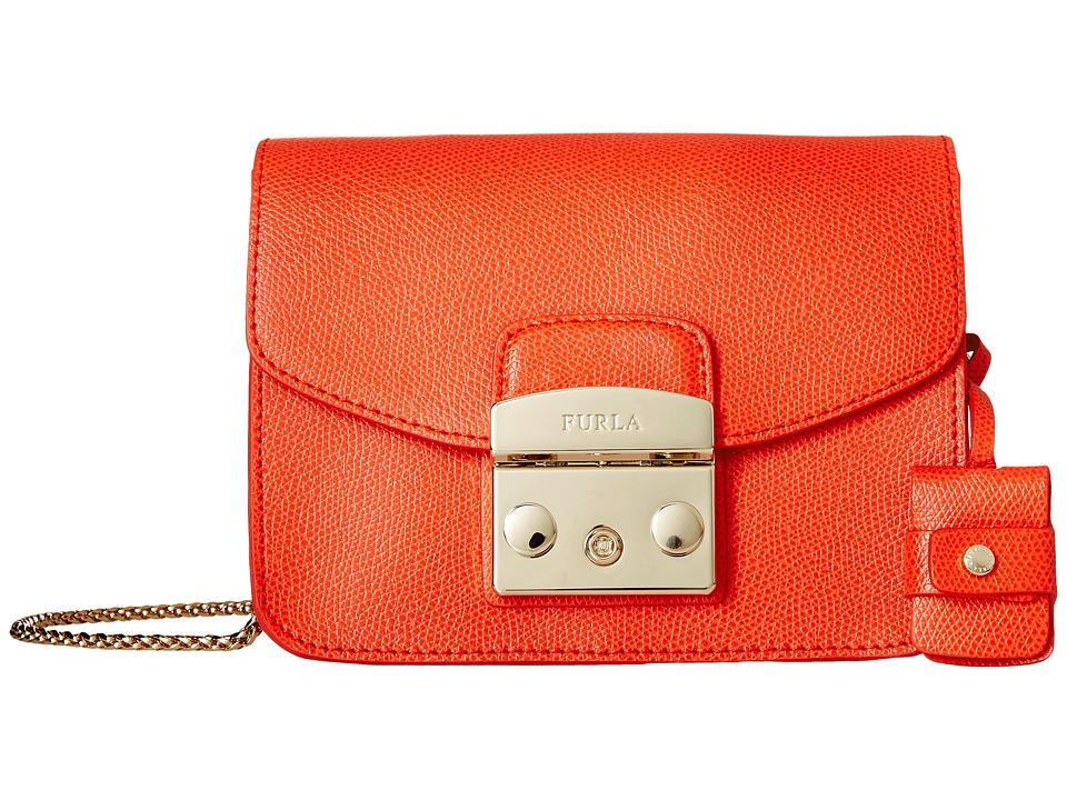 Furla - Metropolis Mini Crossbody (Arancio) Cross Body Handbags