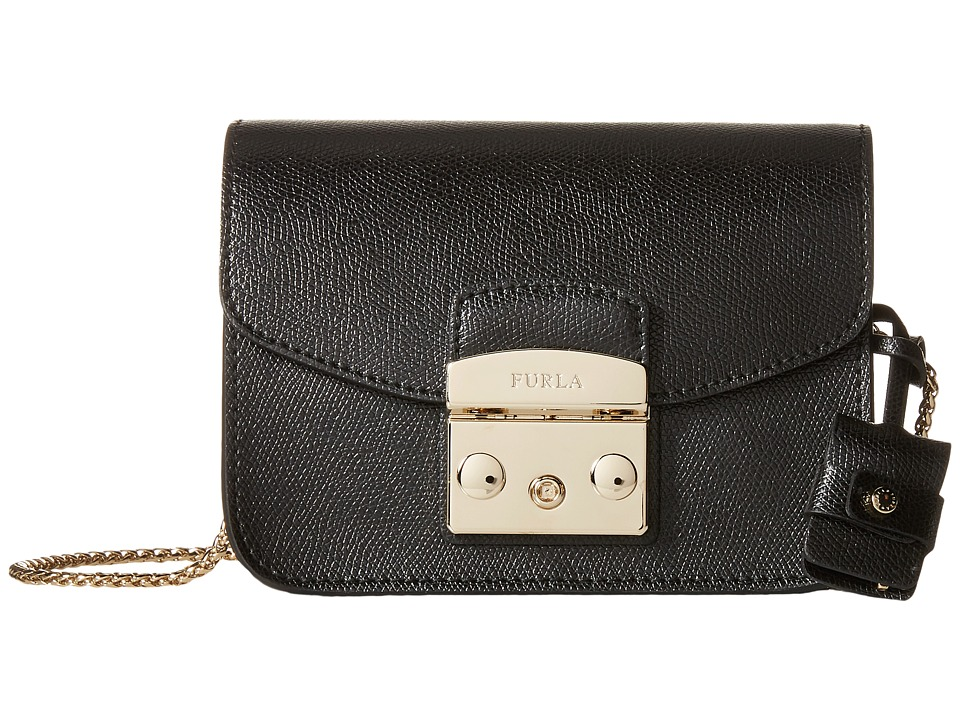 Furla - Metropolis Mini Crossbody (Onyx 3) Cross Body Handbags