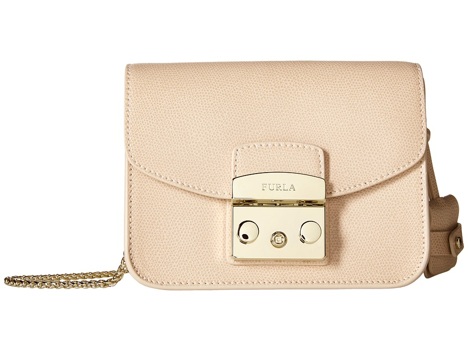 Furla - Metropolis Mini Crossbody (Magnolia) Cross Body Handbags