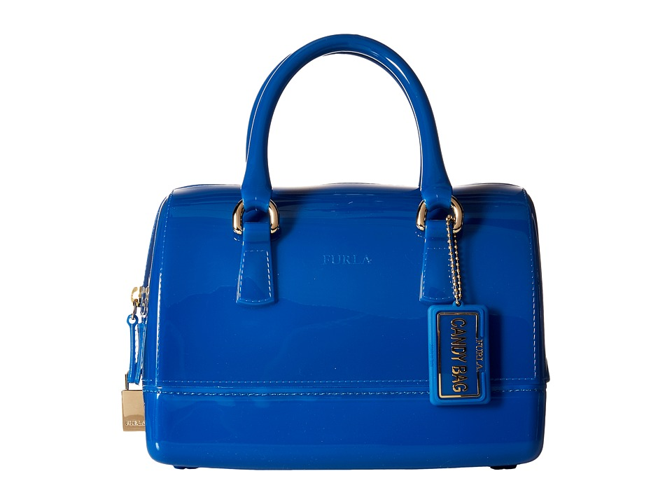 Furla - Candy Cookie Small Satchel (Bluette) Satchel Handbags
