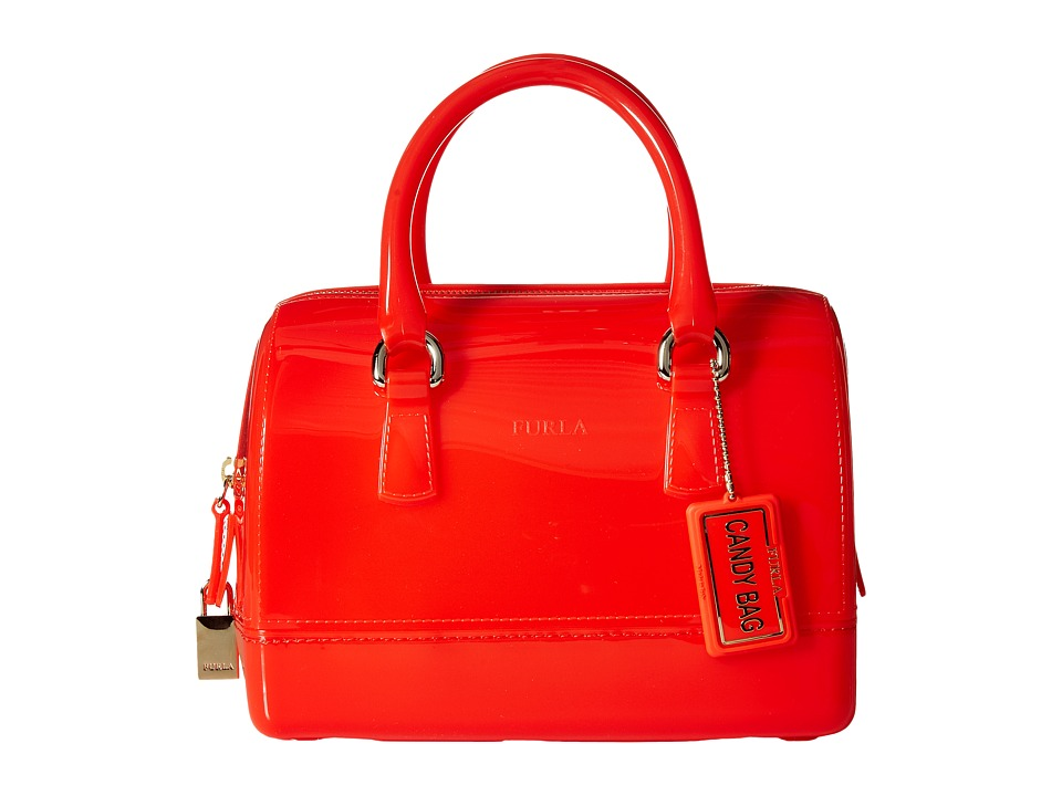 Furla - Candy Cookie Small Satchel (Arancio) Satchel Handbags