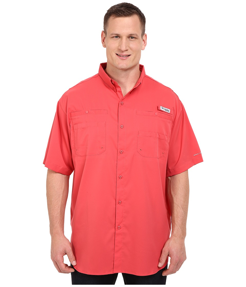 Columbia - Big Tall Tamiamitm II S/S (Sunset Red) Mens Short Sleeve Button Up