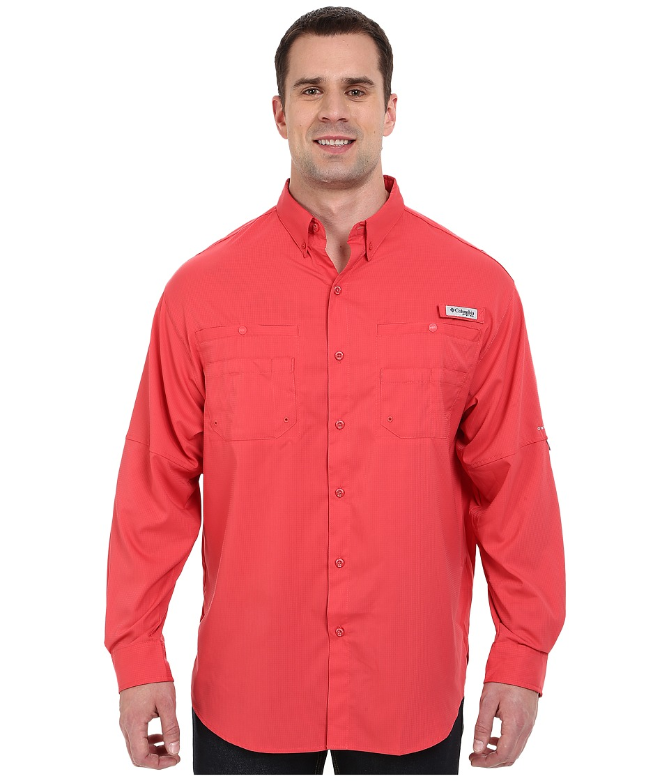 Columbia - Big Tall Tamiamitm II L/S (Sunset Red) Mens Long Sleeve Button Up