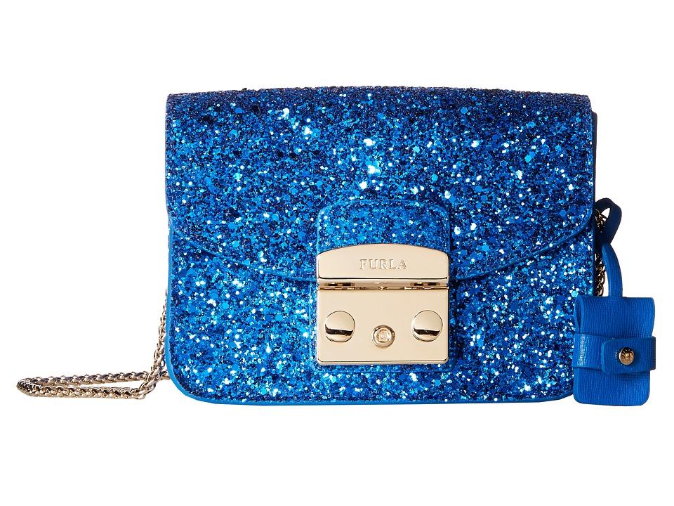 Furla - Metropolis Mini Crossbody (Bluette) Cross Body Handbags