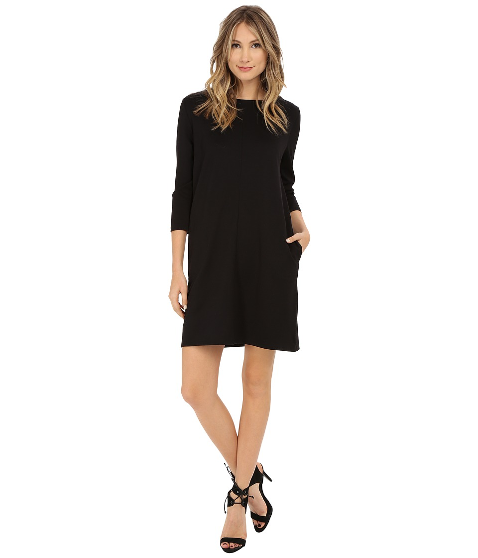 Brigitte Bailey Calin 3/4 Sleeve Dress with Pockets (Black) Women