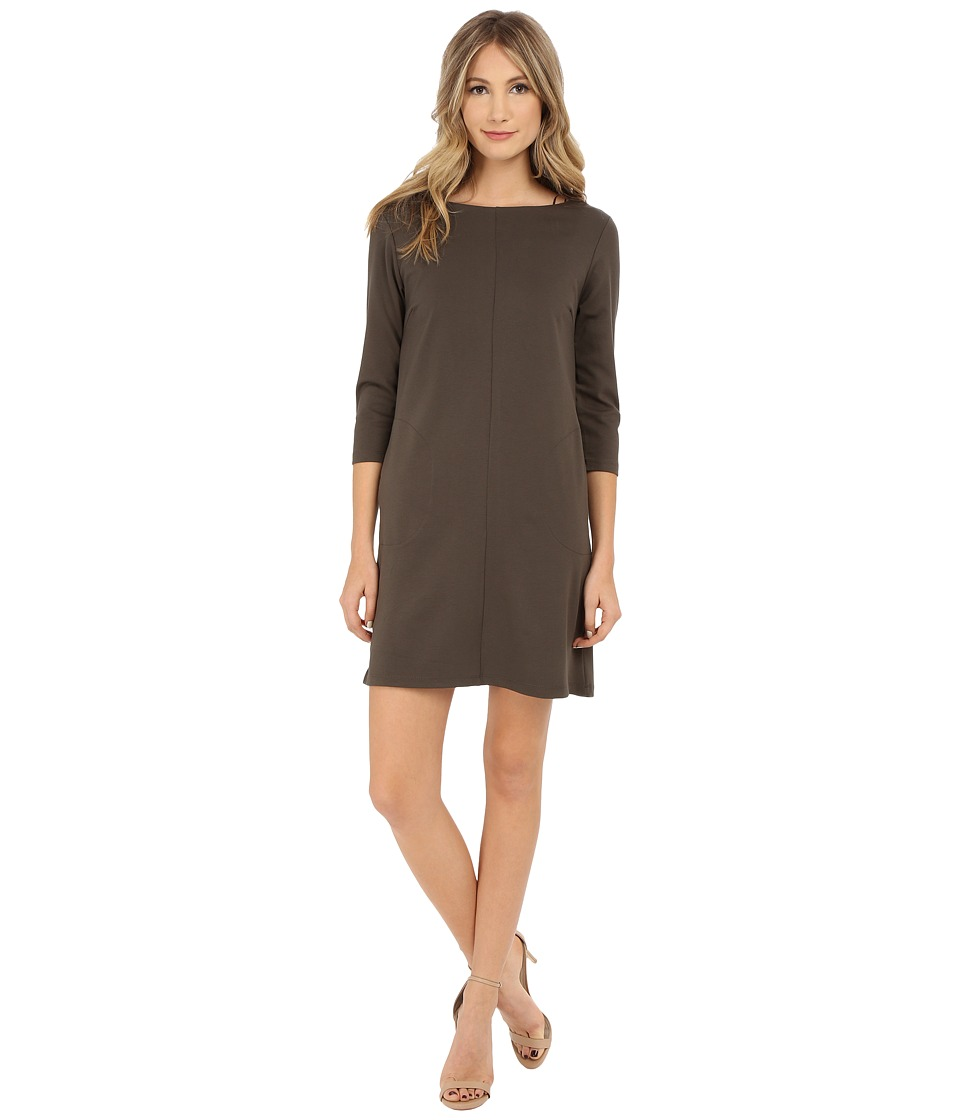 Brigitte Bailey Calin 3/4 Sleeve Dress with Pockets (Olive) Women