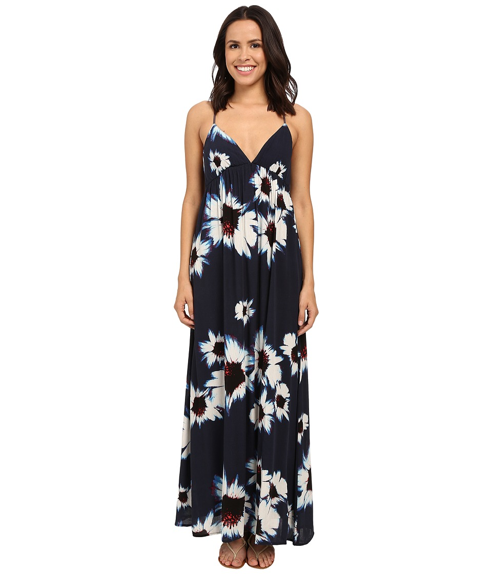 Brigitte Bailey Daphne Floral Keyhole Back Maxi Dress Navy/Cream Womens Dress