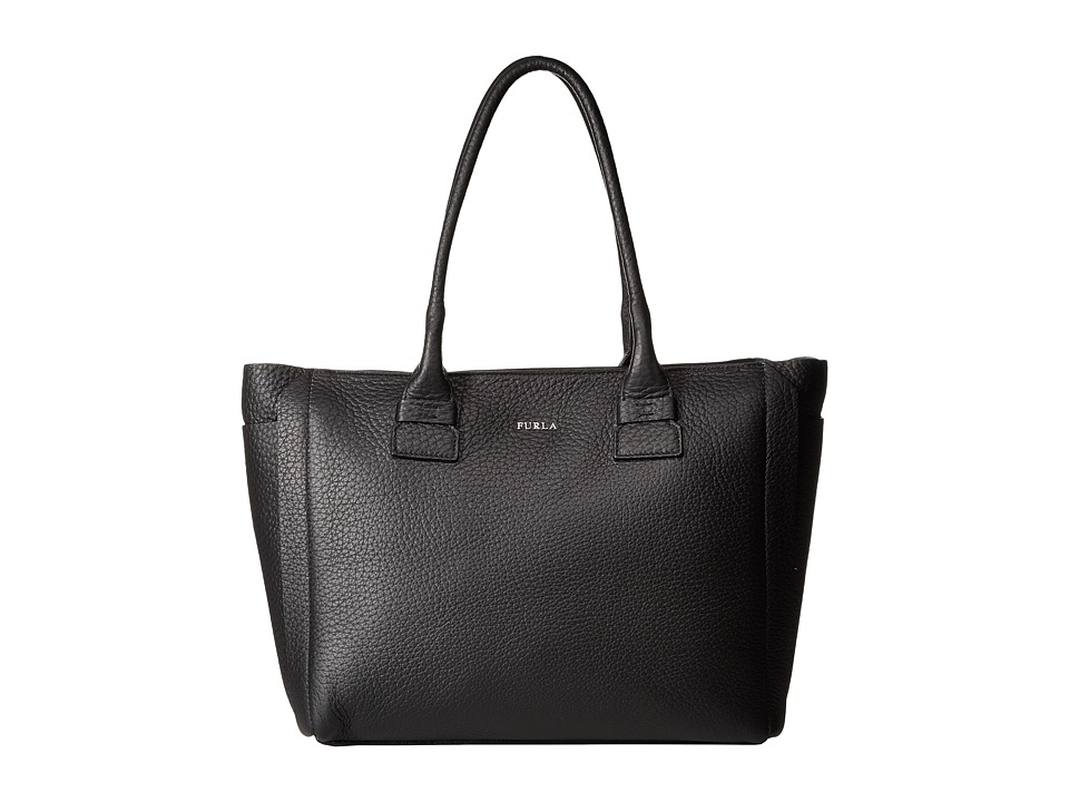 Furla - Capriccio Medium Tote (Onyx) Tote Handbags