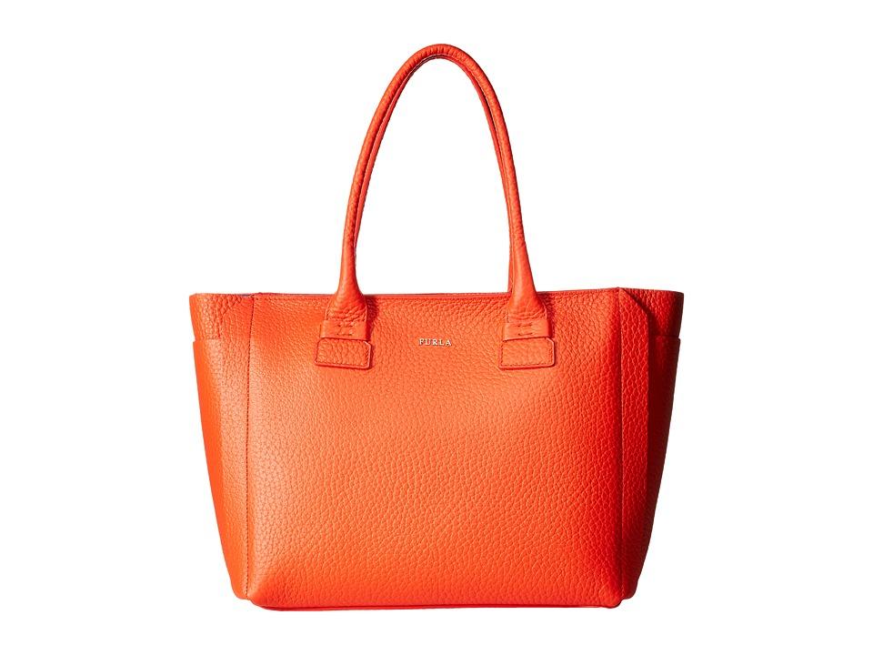 Furla Capriccio Medium Tote Arancio Tote Handbags
