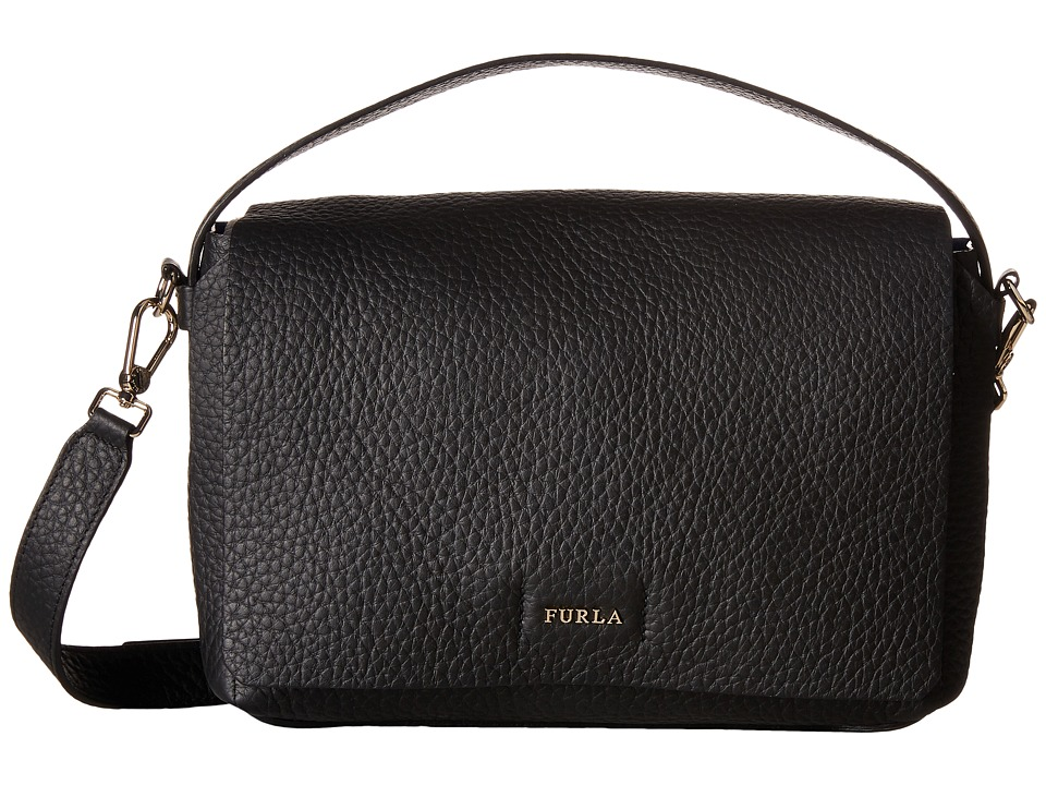 Furla - Capriccio Small Crossbody (Onyx) Cross Body Handbags